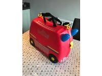 """NOW SOLD ...........Trunki """"Freddie the fire engine """""""