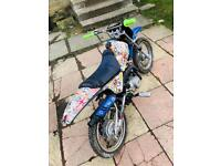 Py90 pitbike fitted with m2r 110 engine