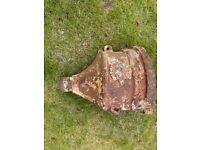 Cast iron corner vintage drainage hopper