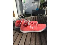 Size 4 Underarmour Coral Trainers