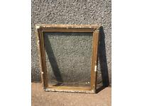 LARGE VINTAGE SHABBY CHIC RUSTIC BAROQUE GOLD GILT PAINTED ENGRAVED PLASTER FRAME & GLASS REQ TLC