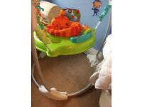 Fisher Price rainforest Jumperoo with box