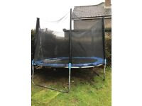 10/12 foot trampoline with safety net