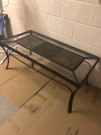 Handmade iron coffee table