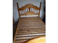 Double pine bed frame in excellent condition. £35 ONO