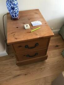 Solid pine drawers with casters