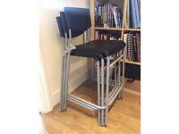 Ikea Black Stools x 3