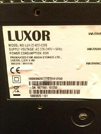 Black Luxor TV and DVD player