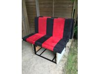 Exc. condition, comfy rock n roll bed for camper van or similar with upholstered racing mattress.