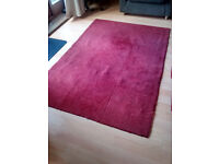 Red tiled-effect rug
