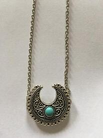 Silver Fancy Turquoise Necklace