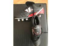 Rugby boots. Size 8. Worn once. Free boot bag.