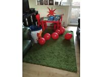 Ikea Mammut Children's Table (In Discontinued Colour- Red)