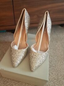 Kurt Geiger silver glitter shoes