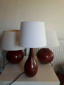 3 designer VINTAGE Endon table lamps BARGAIN!