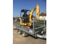Mini digger and driver for hire £200. A day