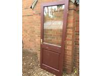 Wooden glazed door