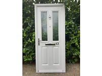 Composite Front Fire Door + Frame + Closer + Obscure Glazing