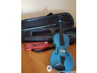3/4 Size Turquoise Violin