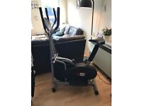 Exercise Bike 2 in 1 cross Trainer, hardly used in good condition with digital display