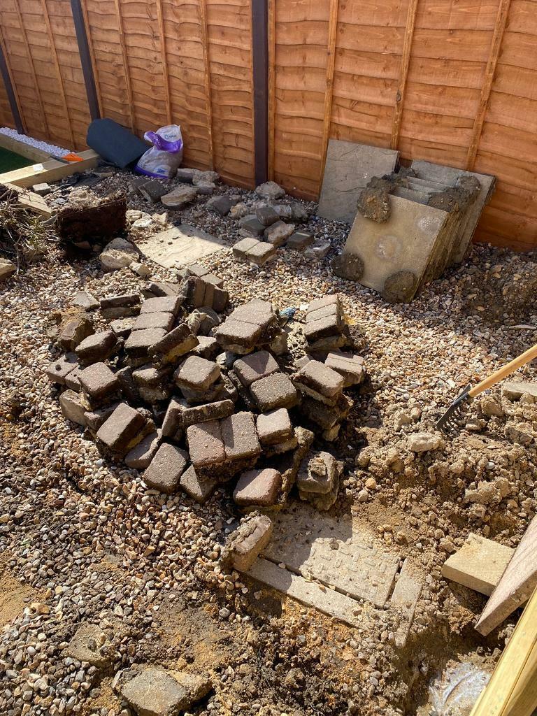 Garden slabs and bricks FREE!!
