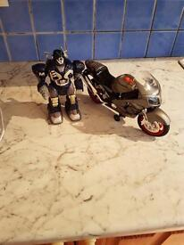 Robot and Motorbike (Need batteries)