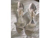 Silver Diamonte Shoes