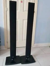LG 5.1 home cinema speakers . 4 x tall boy speakers plus subwoofer and one small