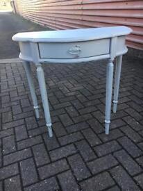 Occasional console table in Sanderson grey paint