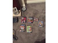 Play station 2, controller with wire, memory card, ps2 games, ps1 games.
