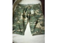 cross hatch cammo shorts,new with tags on.
