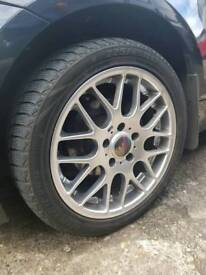 X4 BMW MSport 17inch Alloys with winter tyres excellent tread