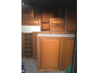 Complete Solid Oak Kitchen For Sale