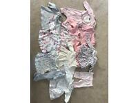 Newborn baby clothes bundle - girl