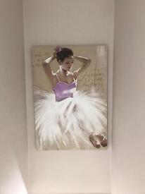 Large canvas of ballet dancer