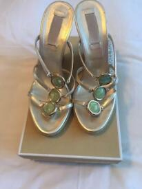 Michael Kors Gold Wedges - Size UK6 (EU39)