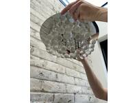 Glass crystal ceiling light