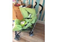 Lime green stroller buggy