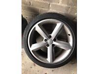 "Audi 18"" s line alloys pirelle p7 tyres"