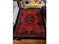 Large 210x280cm rug, red persian design