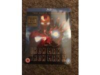 Iron man 1 & 2 box set sealed - blu-ray
