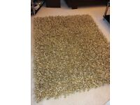 Modern spiky rug - 100% wool, natural colours