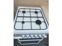 Indesit free standing gas cooker white