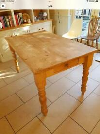 Solid pine farm house kitchen table