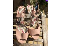 Next nude shiny heels, size 7 BNWT