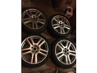 "18"" Jaguar Aruba X S Type Alloy Wheels also fit ford Mondeo focus Volvo"