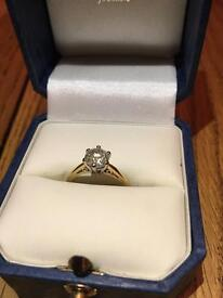 Diamond solitaire ring 1.06 ct - Offers welcome