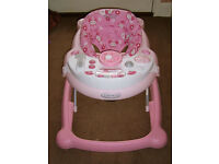 two baby walkers one girl one unisex