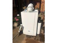 Gas boiler , tank and pump set