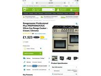 RAngemaster 110cm cooker. Used once so as brand new!gas hobs, electric ovens